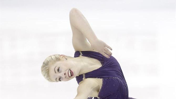 ZEN007. Shanghai (China), 28/03/2015.- Gracie Gold from USA performs in the Ladies Free Skating of the 2015 ISU World Figure Skating Championships at Shanghai Oriental Sports Center in Shanghai, China, 28 March 2015. (Estados Unidos) EFE/EPA/TATYANA ZENKOVICH