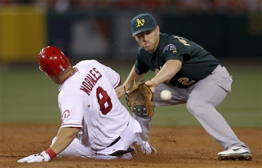 Morales' HR, Weaver's Ks lead Angels past Oakland
