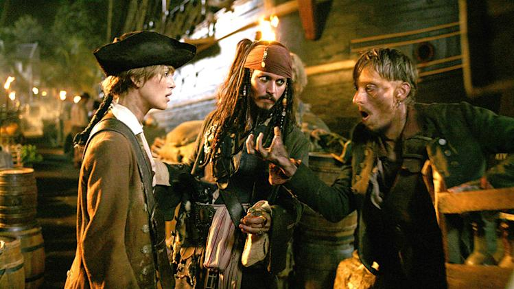 Pirates of the Caribbean Dead Man's Chest 2006 Walt Disney Pictures Keira Knightley Johnny Depp Mackenzie Crook