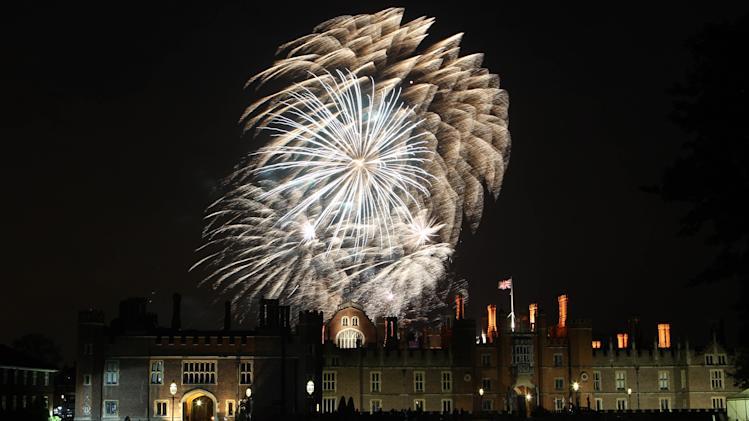 Fireworks at the Hampton Court Festival