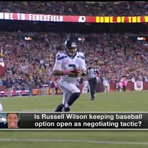 Is Seattle Seahawks quarterback Russell Wilson using baseball as bargaining chip?