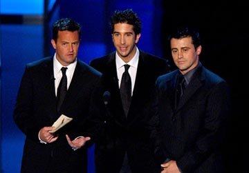 Matthew Perry, David Schwimmer and Matt LeBlanc