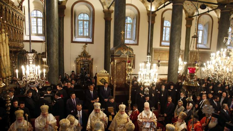 Heads of Orthodox churches, led by Ecumenical Patriarch Bartholomew I, attend a special Sunday mass after the Synaxis in Istanbul