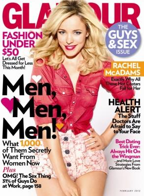 Rachel McAdams on the February 2012 cover of Glamour magazine -- Glamour