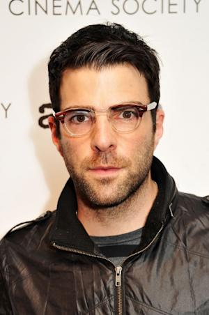Zachary Quinto attends the Cinema Society with Linda Wells & Allure screening of DreamWorks Studios' 'People Like Us' at Clearview Chelsea, New York City, Cinemas on June 25, 2012 -- Getty Images