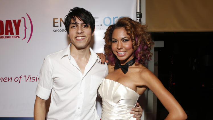 Phillip Meneses and Michelle Delamor attend A New Way of Life Reentry Project 14th Annual Fundraising Gala on Sunday December 9, 2012 in Los Angeles, California.  (Photo by Todd Williamson/Invision/AP Images)