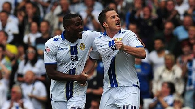 Ross McCormack, right, netted Leeds' winner