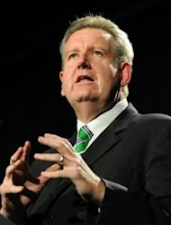 """Since the start of this year, 74 arrests state-wide in relation to firearm offences, 147 weapons seized and 21,500 rounds of ammunition. I have great confidence in the New South Wales police,"" said New South Wales state Premier Barry O'Farrell (pictured in 2011)"