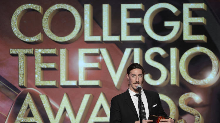Eric Balfour presents a College Television Award onstage at the 34th College Television Awards presented by the Academy of Television Arts & Sciences Foundation at the JW Marriott Los Angeles L.A. Live on April 25, 2013 in Los Angeles, California. (Photo by Phil McCarten/Invision for the Academy of Television Arts & Sciences/AP Images)