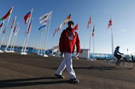 Philippine athlete Michael Christian Martinez arrives for the welcoming ceremony for the team in the Athletes Village at the Olympic Park ahead of the 2014 Winter Olympic Games in Sochi on February 2, 2014