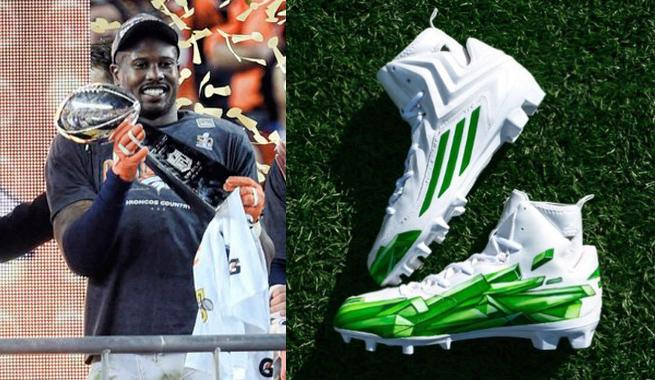 Adidas Sent Von Miller Kryptonite Cleats After Super Bowl Win