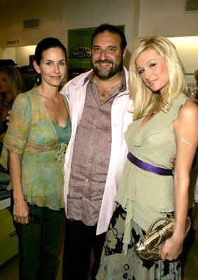 Premiere: Courteney Cox-Arquette, producer Joel Silver and Paris Hilton at Kitson in Beverly Hills for Warner Bros. Pictures' House of Wax - 4/21/2005