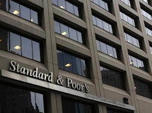 A view shows the Standard & Poor's building in New York's financial district