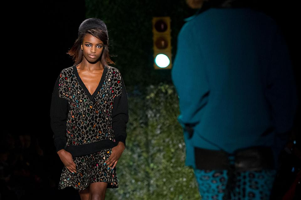 The Tracy Reese Fall 2013 collection is modeled during Fashion Week, Sunday, Feb. 10, 2013, in New York. (Photo by Dario Cantatore/Invision/AP)