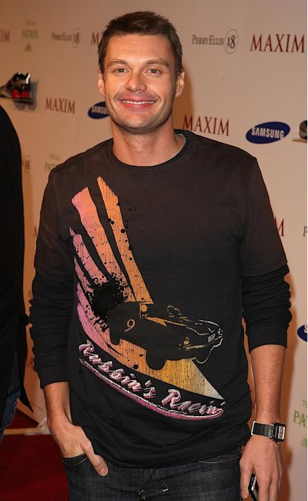 Ryan Seacrest attends the MAXIM Magazine kick off Super Bowl weekend at Grand Opening of Stone Rose Lounge.