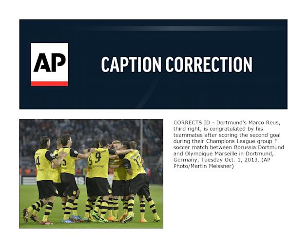 CORRECTION Germany Soccer Champions League