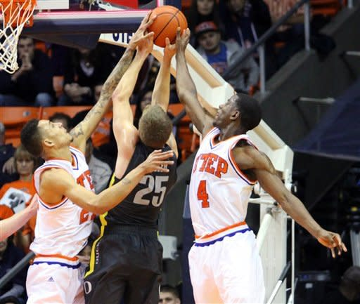 UTEP outlasts Oregon in triple-overtime 91-84