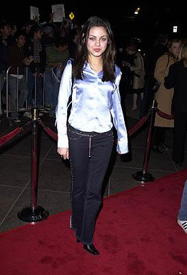 Premiere: Mila Kunis at the Los Angeles premiere of Guy Ritchie's Snatch (1/18/2001)