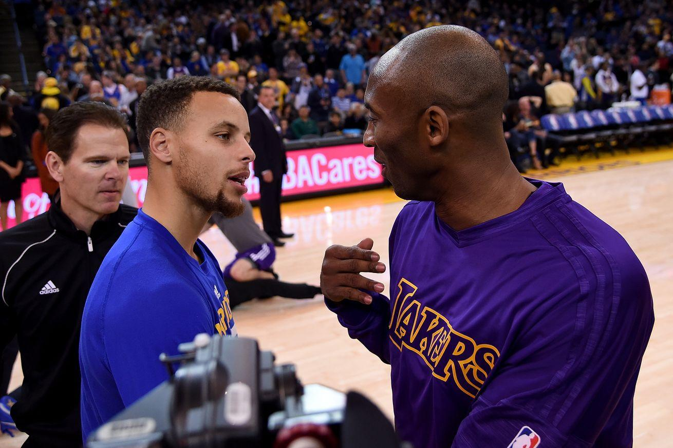 Stephen Curry got the Kobe Bryant glare for talking trash when he was a rookie