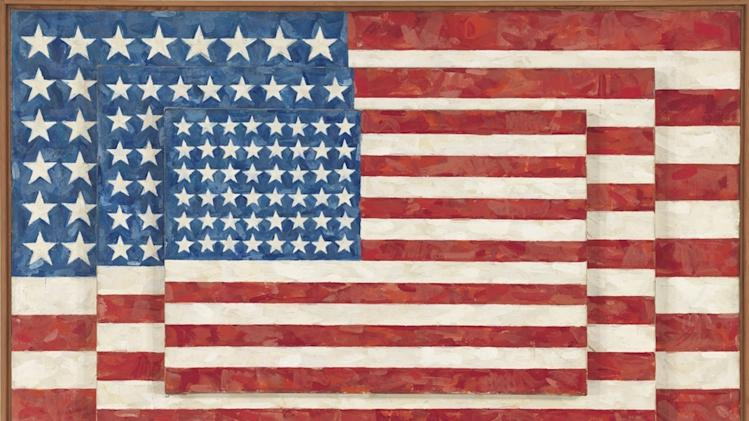 "This image is provided by the Whitney Museum of American Art via Art Everywhere and shows Jasper Johns' 1958 ""Three Flags."" Five museums say they are organizing the largest outdoor art show to showcase American art nationwide this summer. Beginning Monday, April 7, 2014, curators are asking the public to vote online to choose which artwork will be featured on 50,000 displays for the ""Art Everywhere"" initiative in August. Members of the Outdoor Advertising Association of America are donating the space. (AP PhotoWhitney Museum of american Art)"