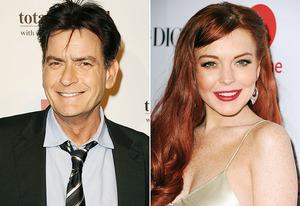 Charlie Sheen, Lindsay Lohan | Photo Credits:  Jason LaVeris/FilmMagic, Steve Granitz/WireImage
