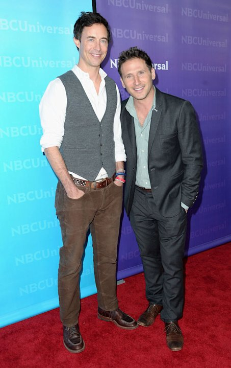 "Tom Cavanagh and Mark Feuerstein (""Royal Pains"") attend the 2012 NBC Universal Winter TCA All-Star Party at The Athenaeum on January 6, 2012 in Pasadena, California."
