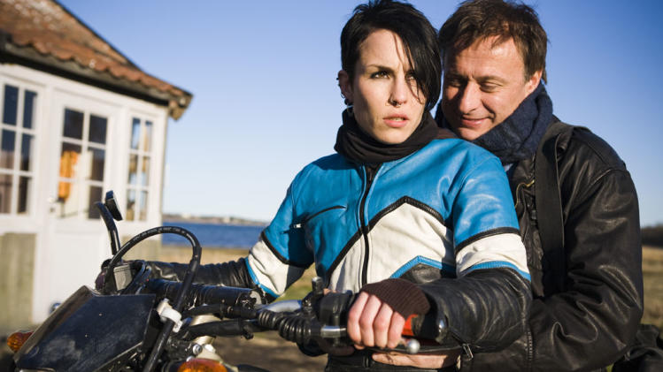 Noomi Rapace Michael Nyqvist The Girl with the Dragon Tattoo Production Stills Music Box 2010