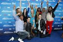 "Finalists Miller, Harrison, Arthur, Velez, Holcomb, Taylor, Glover, Finch Jr., Arbos and Jolley pose at the party for the finalists of the television show ""American Idol"" in Los Angeles"