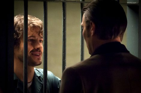 Hannibal: Will Graham behind bars looking at the man who put him there Hannibal Lecter