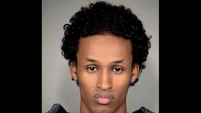 FILE - This file image released Nov. 27, 2010, by the Multnomah County Sheriff's Office shows Mohamed Osman Mohamud.   Testimony from an undercover agent who posed as an al-Qaida recruiter continues Tuesday, Jan. 15, 2013, in the trial of Mohamud. A second man, who posed as an al-Qaida  bomb expert, is also expected to testify. (AP Photo/Multnomah County Sheriff's Office, file)