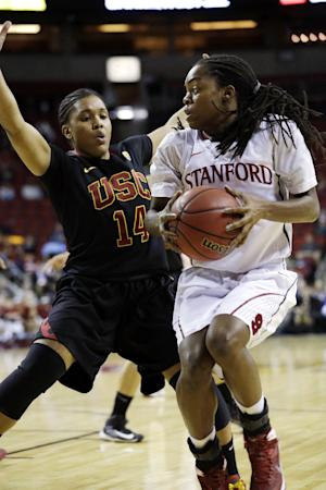 USC upsets No. 4 Stanford 72-68 in Pac-12 semis
