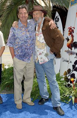 Beau Bridges and Jeff Bridges at the premiere of Columbia Pictures' Surf's Up