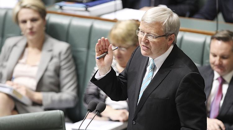 Kevin Rudd Sworn In As Australian Prime Minister