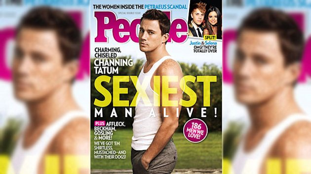 Channing Tatum Crowned as 'Sexiest Man Alive'