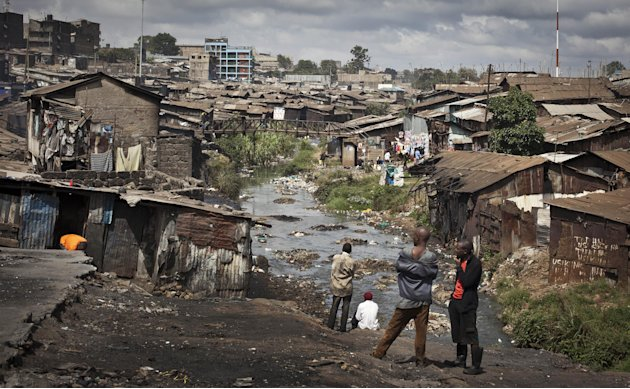 This photo taken Tuesday, Feb. 26, 2013 shows a view of the Mathare slum of Nairobi, Kenya. Kenya on Monday holds its first presidential election since its 2007 vote devolved into months of tribal vio