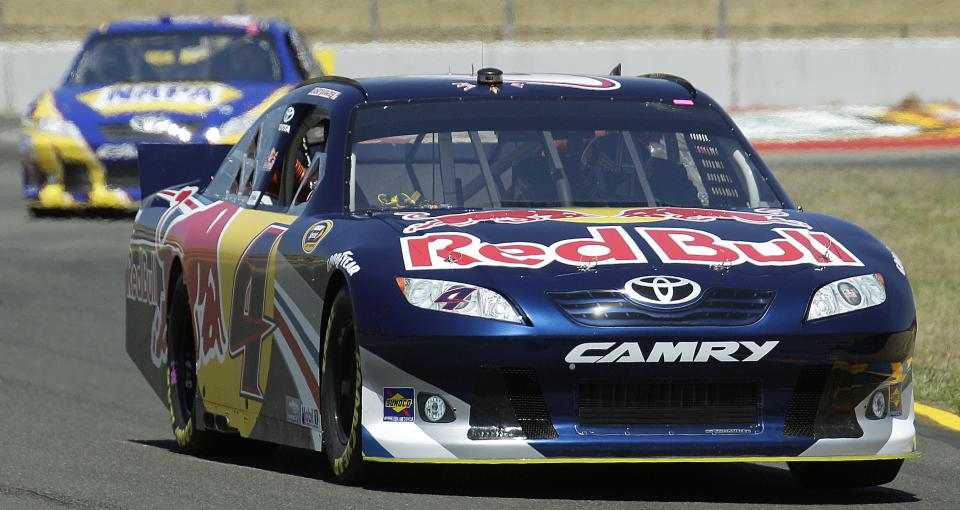 Kasey Kahne (4) races during practice for Sunday's NASCAR Toyota Save Mart 350 auto race on Friday, June 24, 2011, at Infineon Raceway in Sonoma, Calif. (AP Photo/Ben Margot)
