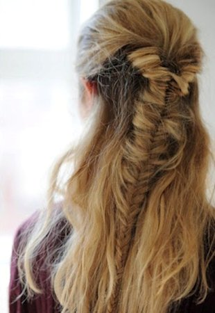 Half Fishtail Braid