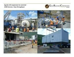 Gold Resource Corporation Mill Expansion Update: Ball Mill On Site