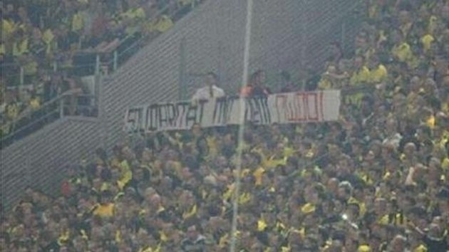 Nazi-Banner in Dortmund