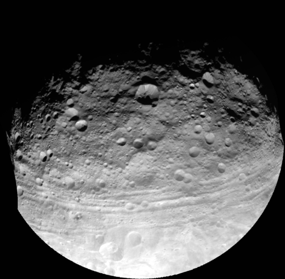Surprising Troughs on Asteroid Vesta Might Have Resulted From Collision