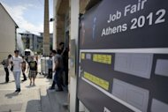 Students and young graduates arrive at a job fair at the Athens Technopolis 2012 in May, organized by technological firms and students organizations. As Greece struggles to get out of its financial crisis through spending cuts and economic reforms, the European Commission has promised to launch an action plan to boost youth employment by the end of this year