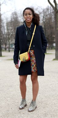 Book And Street (Style) Smart in Maje, Celine, Fendi, Uniqlo and Chanel