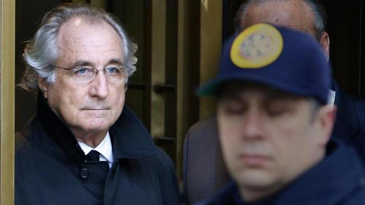 Accused swindler Madoff exits the Manhattan federal court house in New York