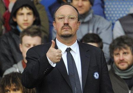 Chelsea's manager Benitez reacts during their English Premier League soccer match against West Bromwich Albion in London