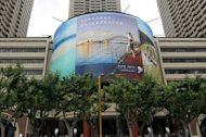 A giant screen outside a shopping complex in Shanghai displays various Australian tourism advertisements in June 2012. Australia launched a multi-million dollar global tourism campaign in Shanghai, targeting China&#39;s growing affluent classes who are venturing overseas in greater numbers