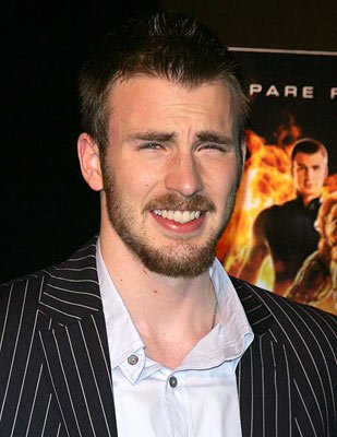 Chris Evans at the New York premiere of 20th Century Fox's Fantastic Four