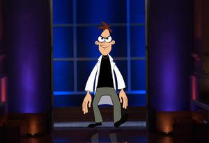 "Dr. Doofenshmirtz from ""Phineas & Ferb"" guest stars on ""Shark Tank."" 