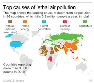 The map shows the single leading cause of death from…