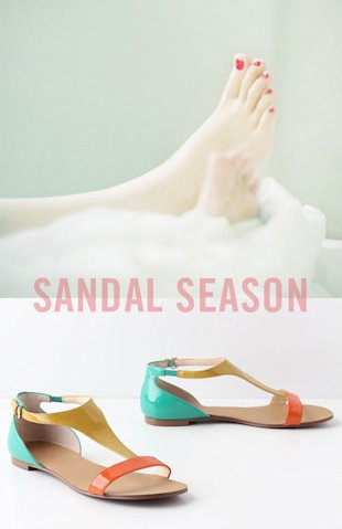 5 Colorful Summer Sandals