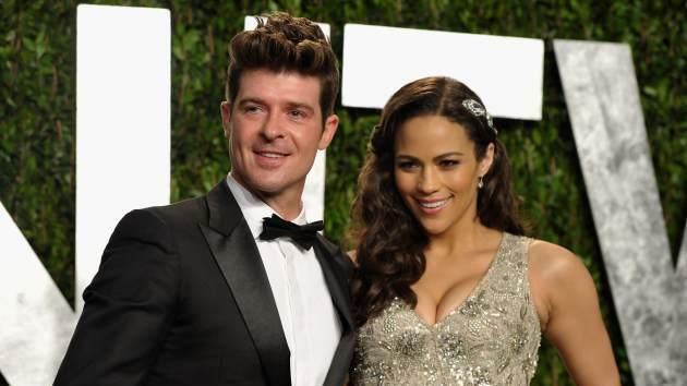 Robin Thicke and Paula Patton -- Getty Images